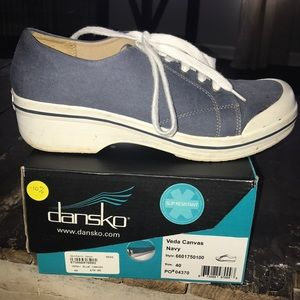 Dansko canvas shoes